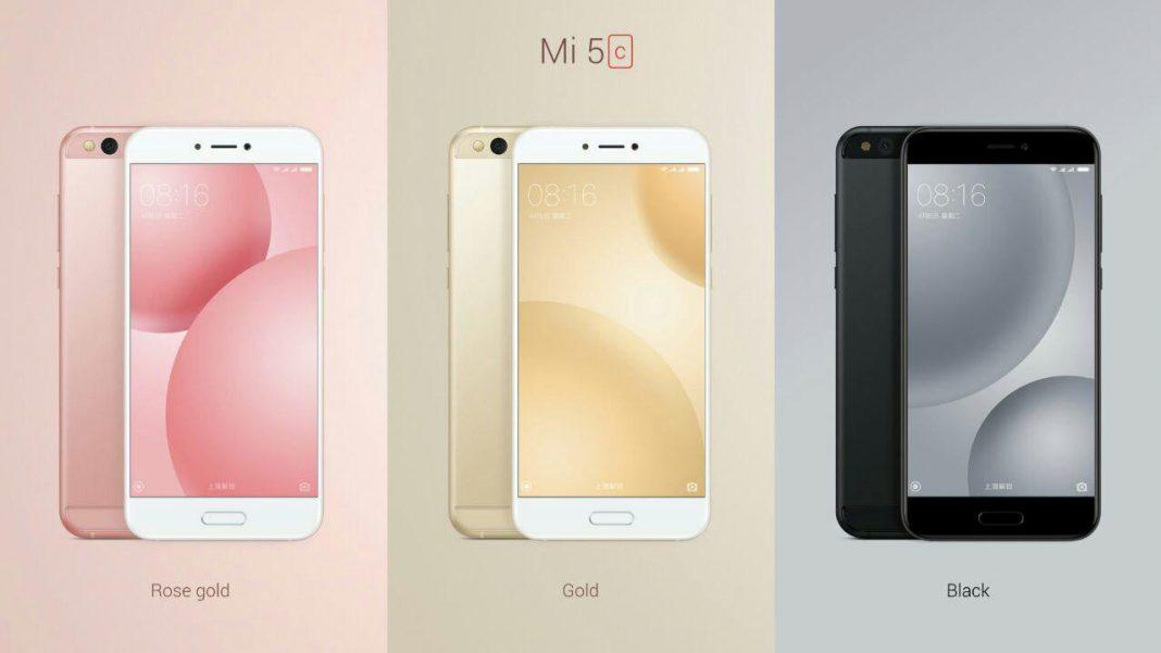 Mi5C: Colores del nuevo Mi5C