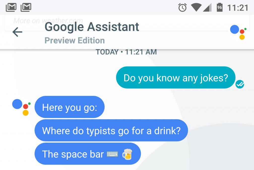 nueva personalidad para Google Assistant bromas
