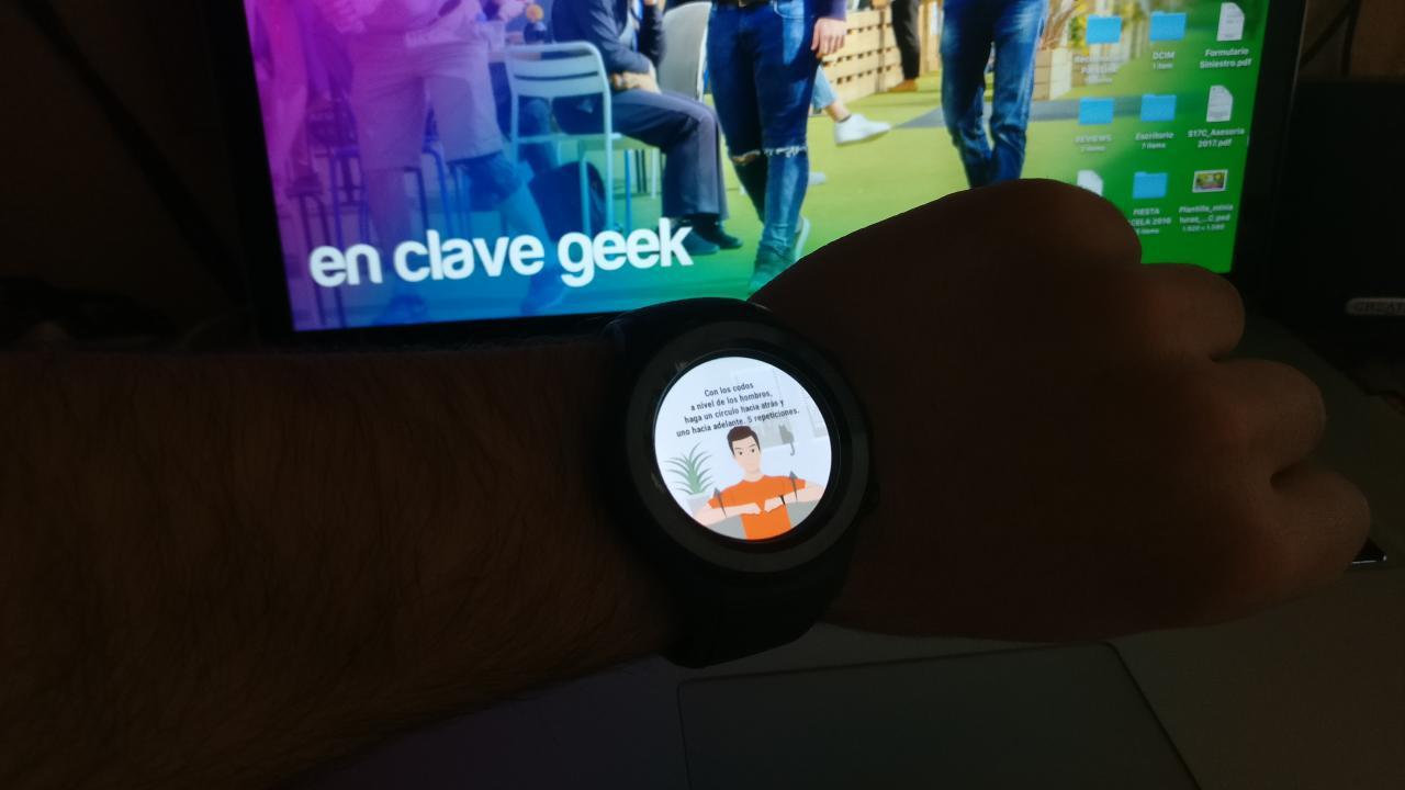 Huawei Watch 2 Ejercicio ejemplo