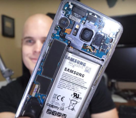 Samsung Galaxy S8 con carcasa trasera transparente: Samsung Galaxy S8 transparente