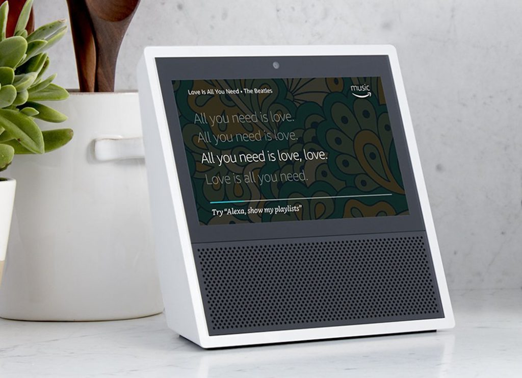 Amazon Echo Show letras de canciones