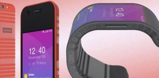 concepto smartphone Lenovo pantalla flexible