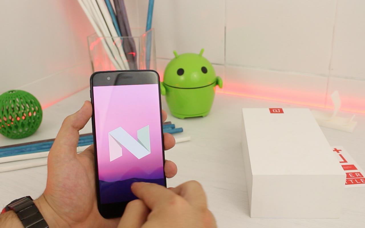 OnePlus 5 Nougat