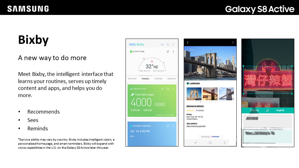 Samsung Galaxy S8 Active: Bixby