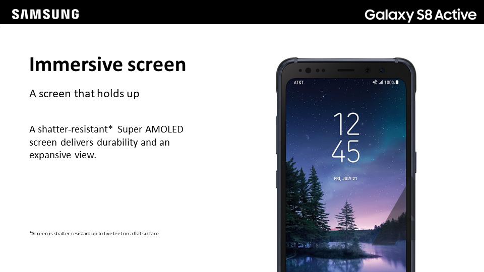 Samsung Galaxy S8 Active: Descripción pantalla