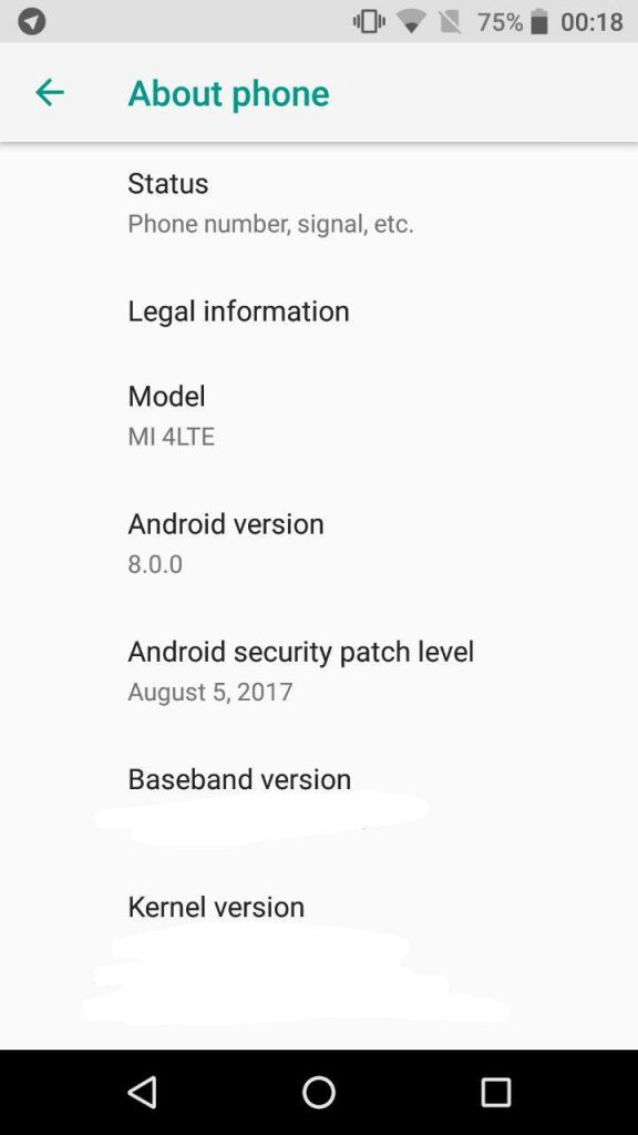 Como instalar Android Oreo 8.0 en el Xiaomi Mi4: Android Oreo en el Xiaomi Mi4