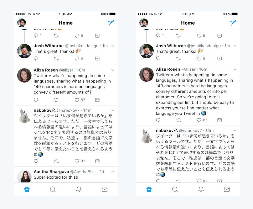 Twitter: 280 caracteres