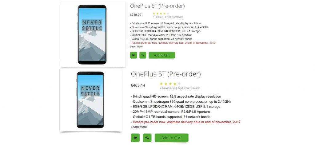 OnePlus 5T Oppomart