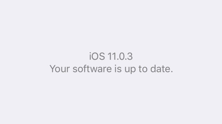 iOS 11 en un iPhone 6s: iOS 11.0.3