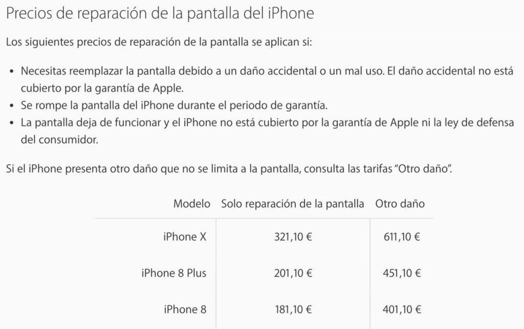 Esto cuesta cambiar la pantalla del iPhone X: precio del cambio de pantalla en el iPhone X