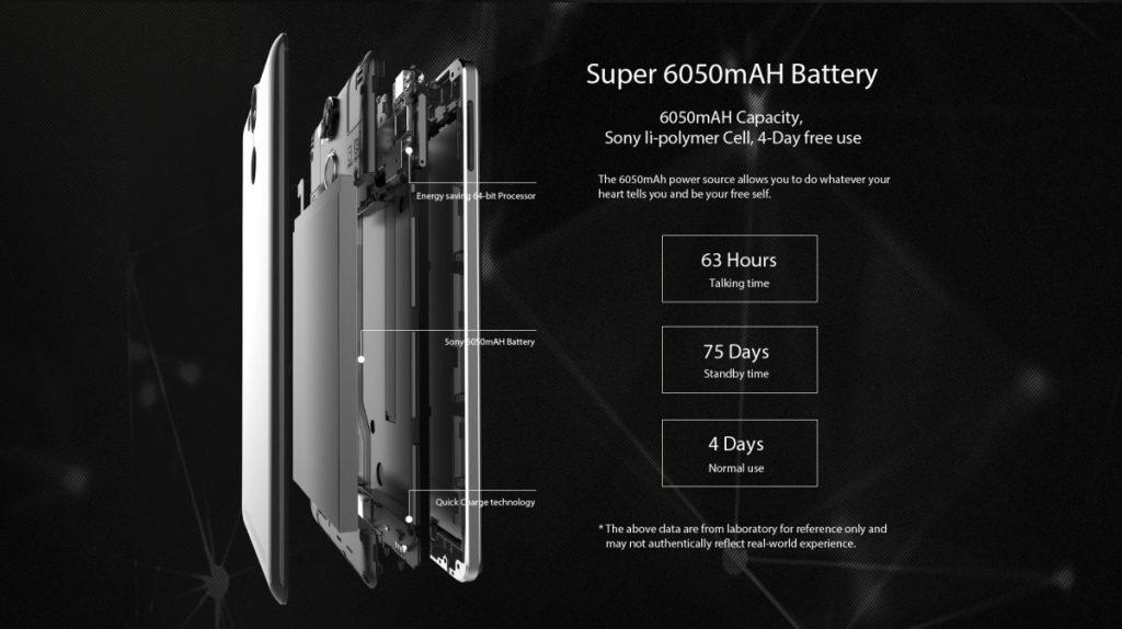 ulefone power 3 batería