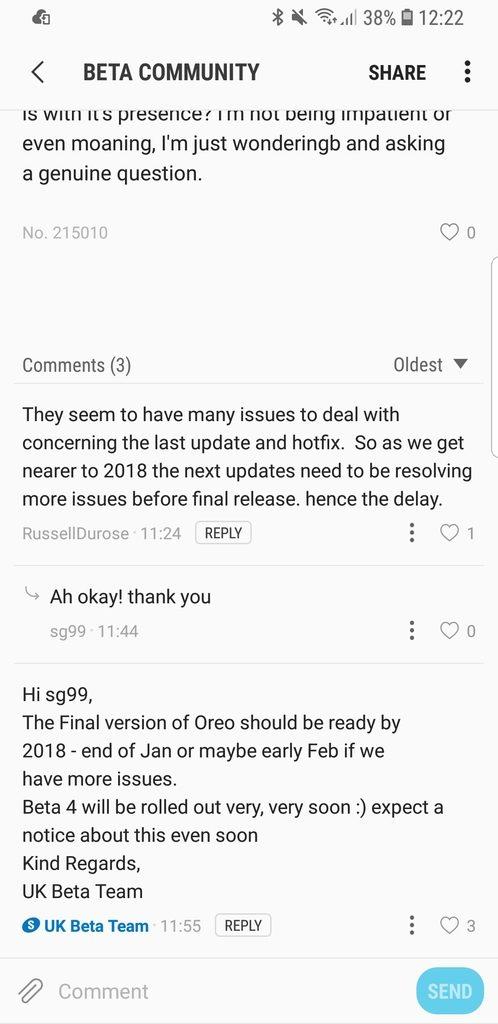 Galaxy S8 recibirá Android Oreo