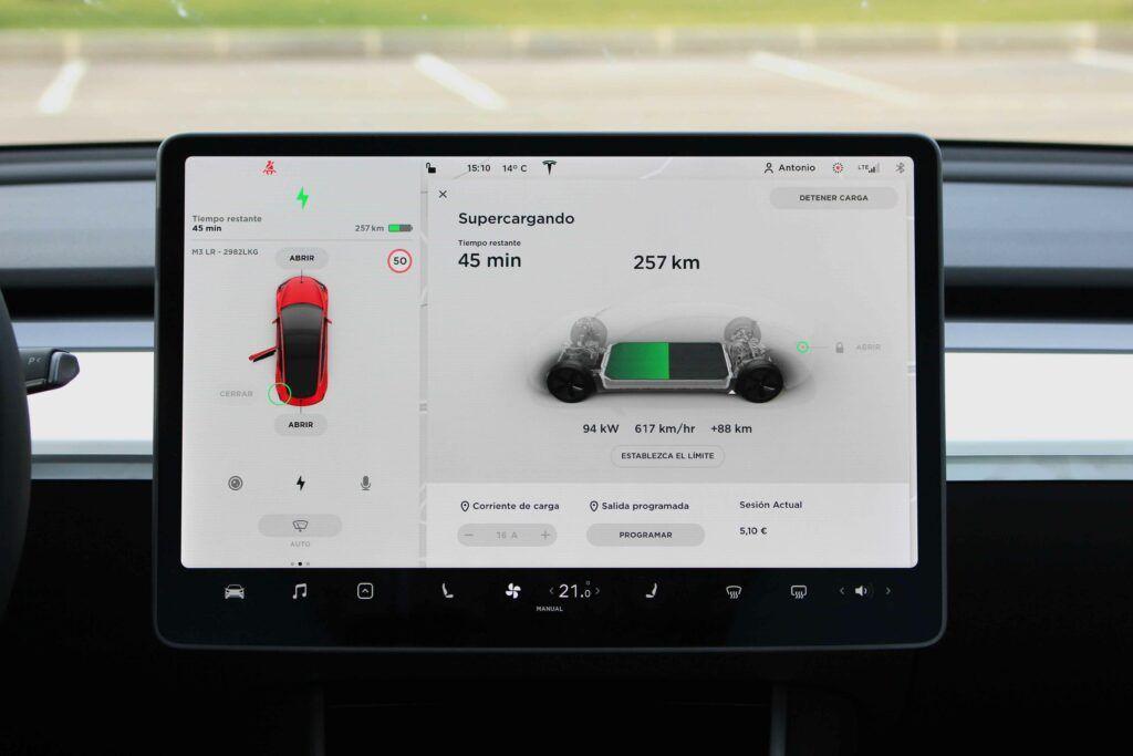 Tesla Model 3 carga rápida